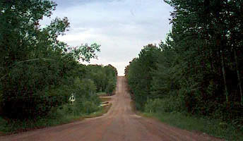 "The ""hill"" on Lance Lake Road."